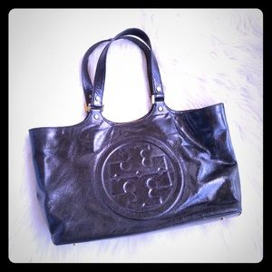 Tory Burch black bomber tote
